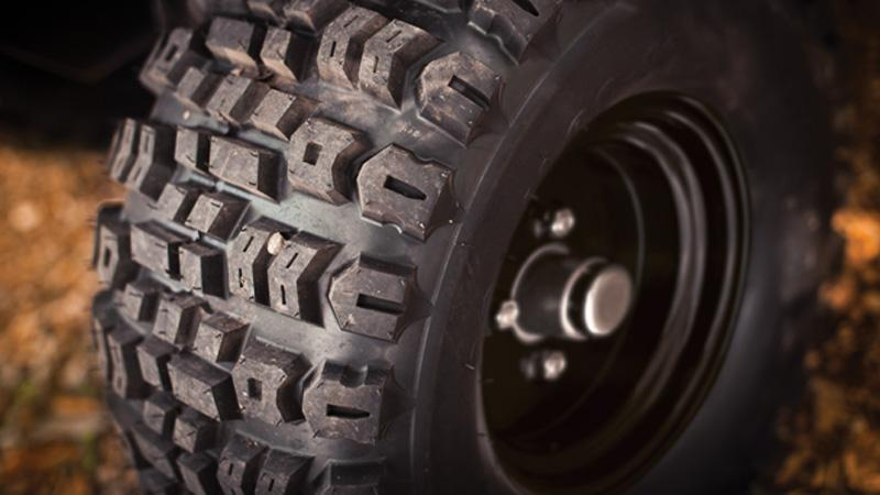 EZGO 23 inch lifted tires and wheels for the EZGO Express L6 gas golf cart for sale.