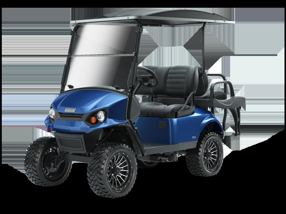 EZGO Express S4 Electric Blue Personal Golf Cart