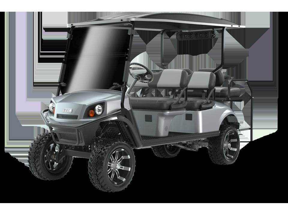 EZGO Express L6 Platinum Golf Cart with speaker accessory